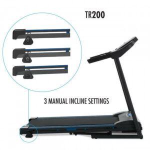 Xterra TR200 Treadmill - Foldable Treadmill - settings