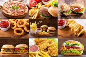 Body Transformation of Fat to Muscle - unhealthy food