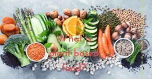 What is plant based food - social